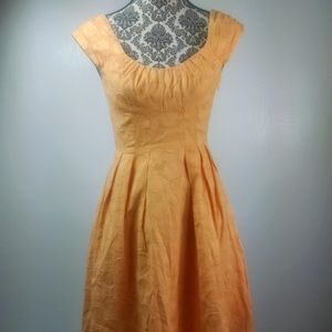 Calvin Klein dress size 4 orange polka dots